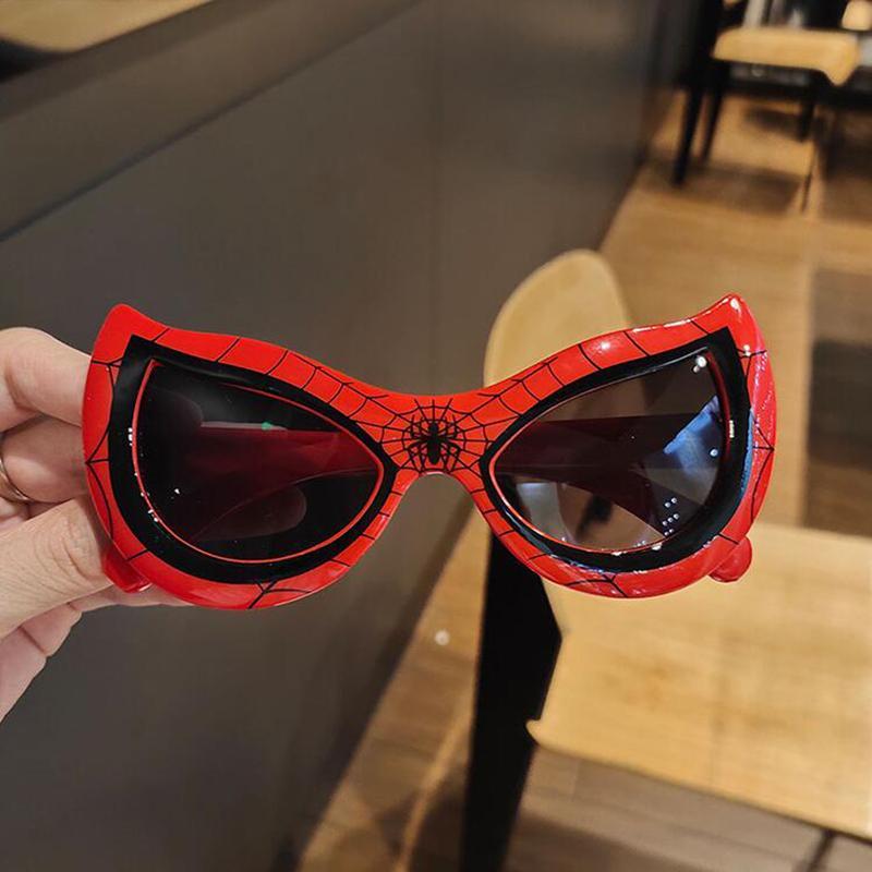 Superhero персонажи орнамент солнцезащитные очки Ins Мода мультфильм моделирование новинка детей солнцезащитные очки ультрафиолето-доказательство рождения подарки солнцезащитные очки