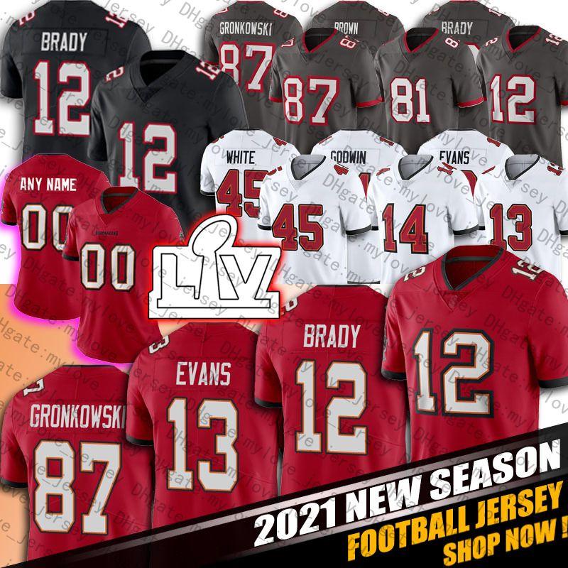 2021 12 Tom Brady Jersey Leonard Fournette Mike Evans Devin White ...