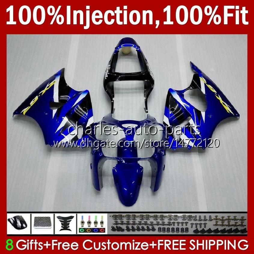 OEM Body Blue Glossy Ny Injektionsform för Kawasaki Ninja ZZR600 05-08 ZX ZZR-600 600 CC 05 06 07 08 Cowling 38HC.14 ZZR 600 600CC 2005 2006 2007 2008 100% FIT FAIRING KIT