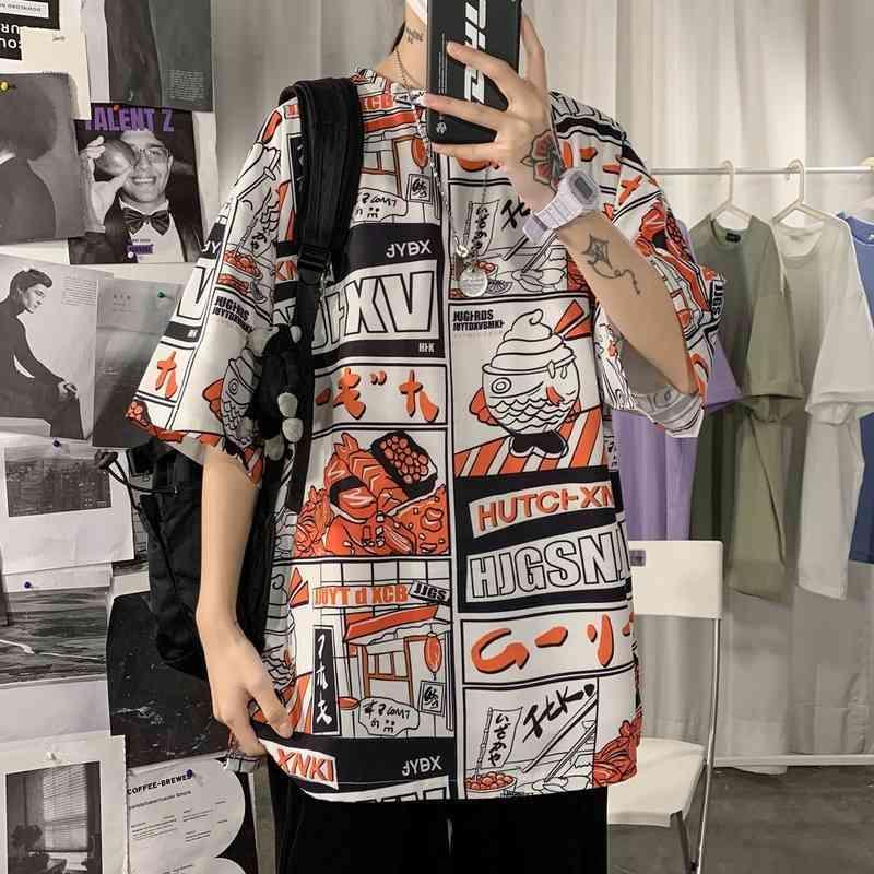 العصرية تصميم التلبيب قصيرة الأكمام قميص بولو للجنسين جودة عالية 1neck 1neck القطن المطبوعة النساء الرجال البلوز الملابس سترة F5795