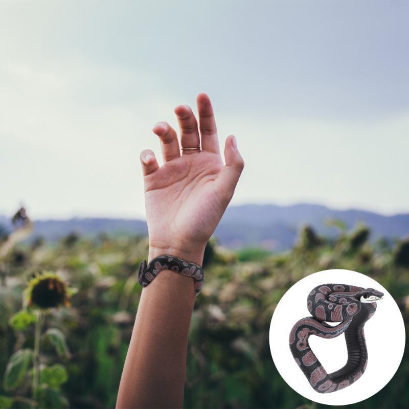 Braccialetti di fascino Unisex Simulazione del braccialetto del serpente del serpente horror wristband finto per prestazioni di feastivale del partito (Snake-8)