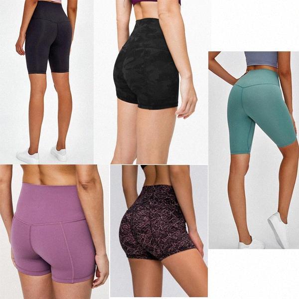 Yoga Femmes Shorts Leggings Designer Designer Femmes Entraînement Salle de sport Porter Lu 68 Sports Solid Couleur Sports Élastique Fitness Lady Collant Global Slongsudex #