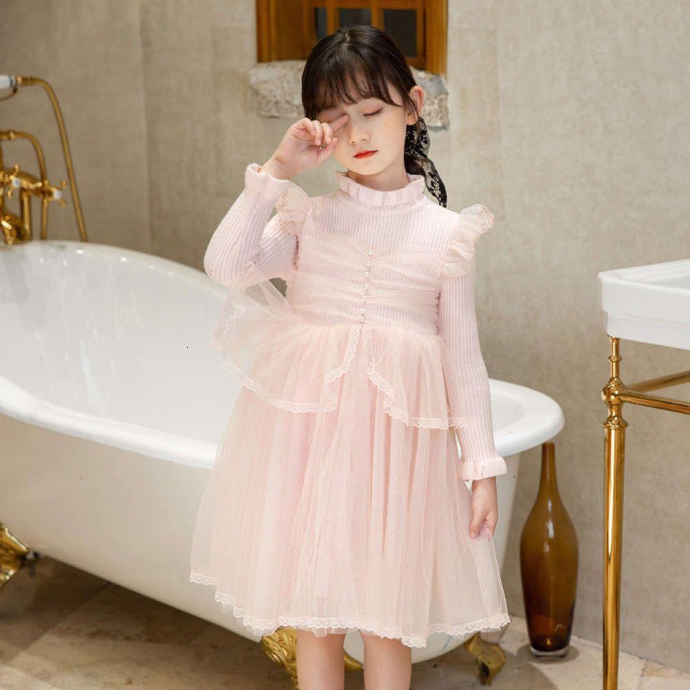 Платья для девочек Физическая Стрелка Зима DRS MH Детская кружевная юбка Торт 1017