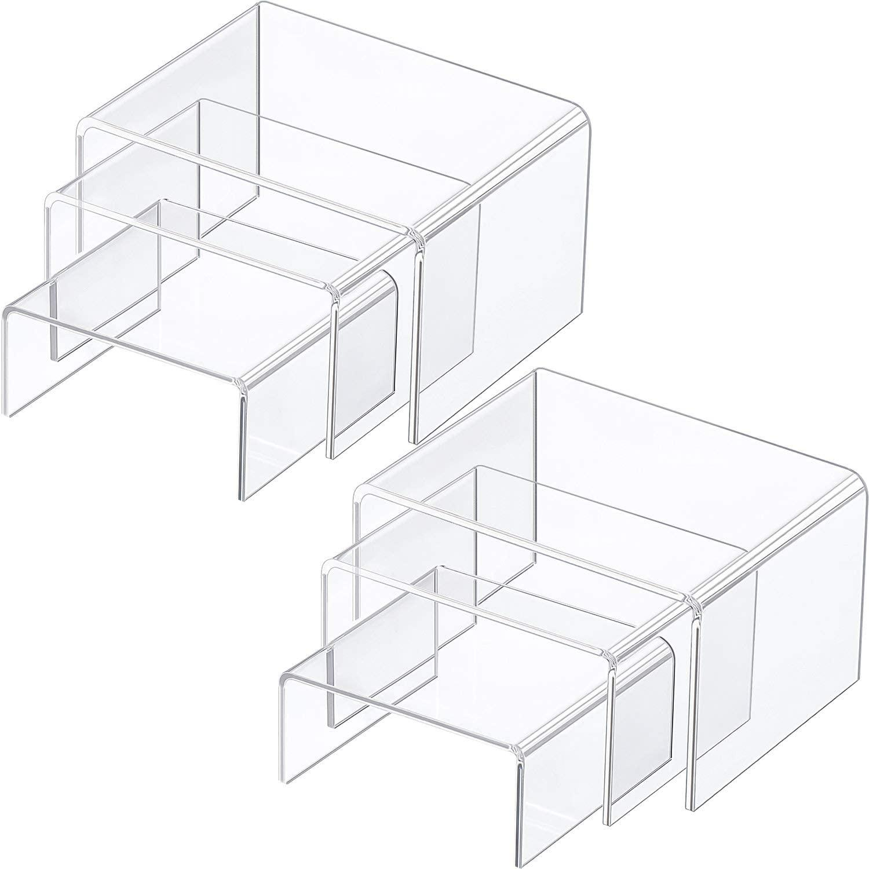 acrylic U-shaped display rack
