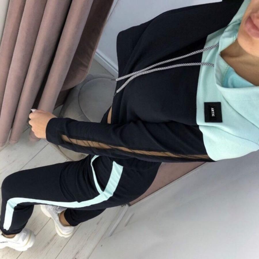 Pieza del conjunto Dos de la nueva ropa popular de las mujeres del otoño con la malla que cose UMIB