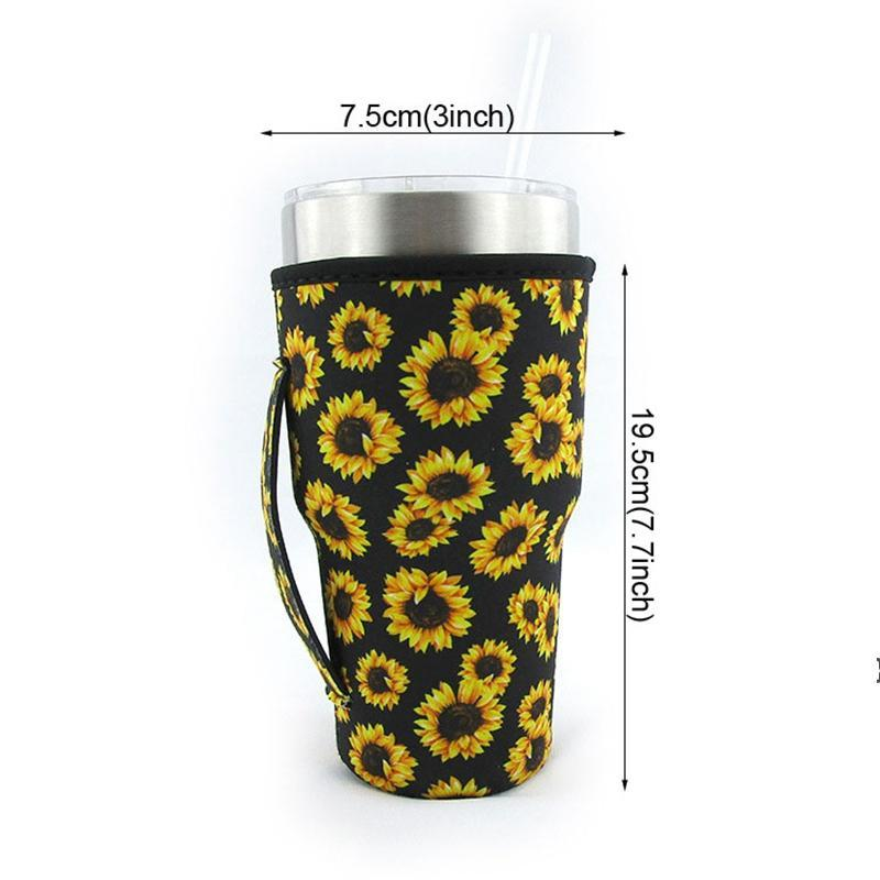 Tumbler Anti-scald Carrier Holder Pouch Neoprene Insulated Sleeve Bags Case 30oz Tumbler Coffee Cup Water Bottle Holder NHE6628