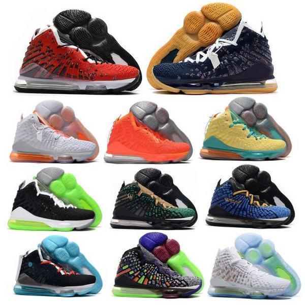 جيمس الرجال أحذية كرة السلة 17 17 ثانية حذاء رياضة 2 كيلو أحمر السجاد كلية البحرية عالية السابع XVII الأبيض الهواء zapatillas هومبر رجل سلال المدرب الرياضة