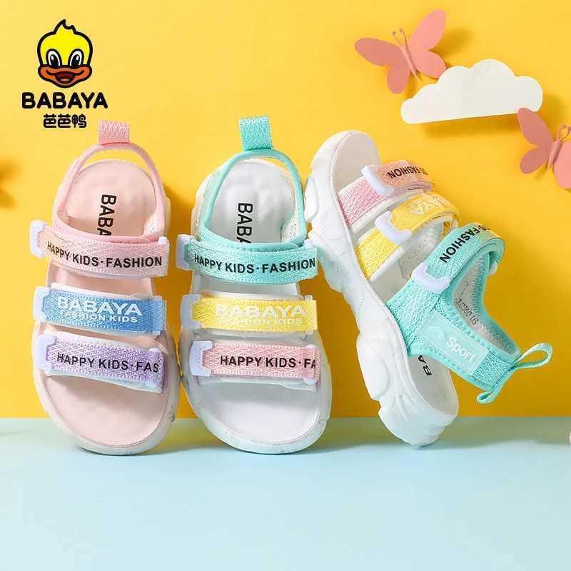 바바야 어린이 샌들 소녀 캔디 색상 캐주얼 신발 패션 통기성 여자 비치 신발 2021 여름 새로운 오픈 섹스 신발 C0602