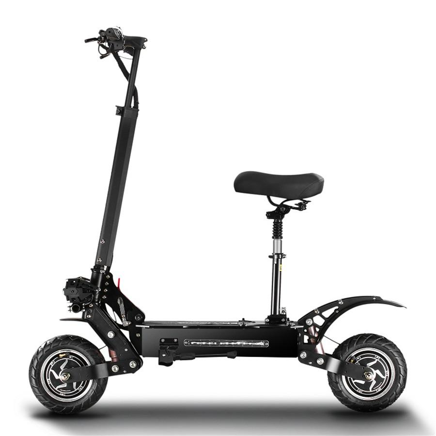 adults off road electric scooter with seat dual motor 5600W drive hydraulic shock absorber Escooter and the fastest 85KM