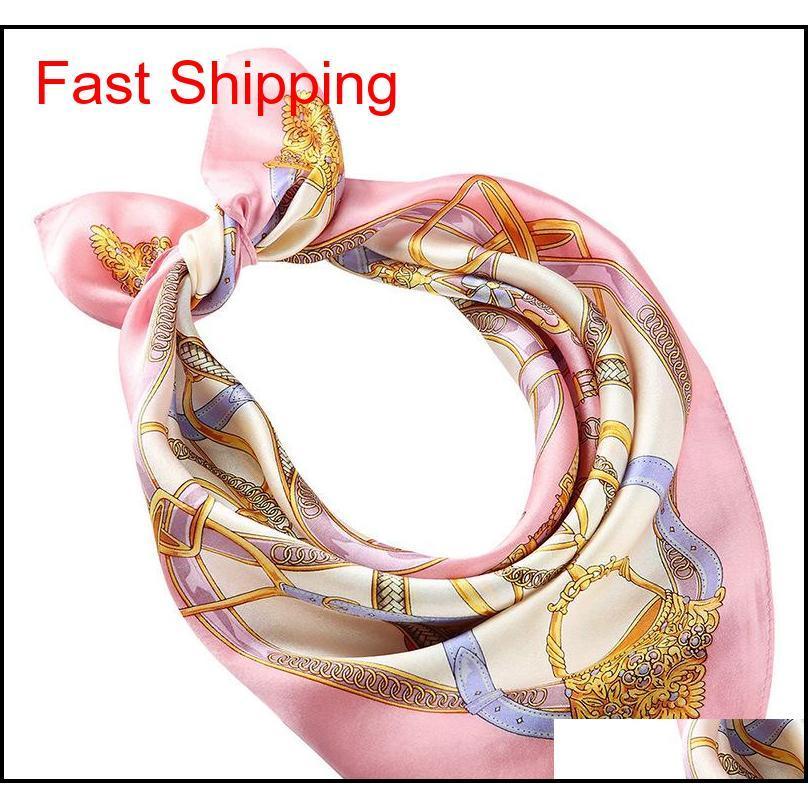 Аксессуары для аксессуаров Drop Доставка 2021 Весна и осень дизайнер женские напечатанные роскошный шарф с квадратным рисунком Повседневная мода бренд CRAVAT FO