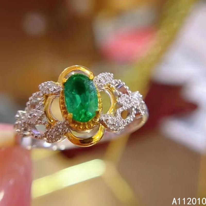 Joyería fina 925 Plata esterlina con incrustaciones de piedras preciosas de gemas de la mujer esmeralda de la mujer de la mujer con caja de racimo de caja