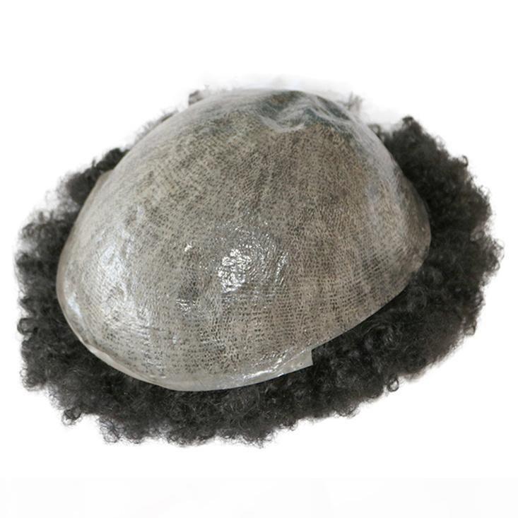 Wholesale hommes Toupee Indien Human Cheveux Toupese Morcee pour Hommes Pu PU Homme Unité de cheveux Toupée Système de remplacement