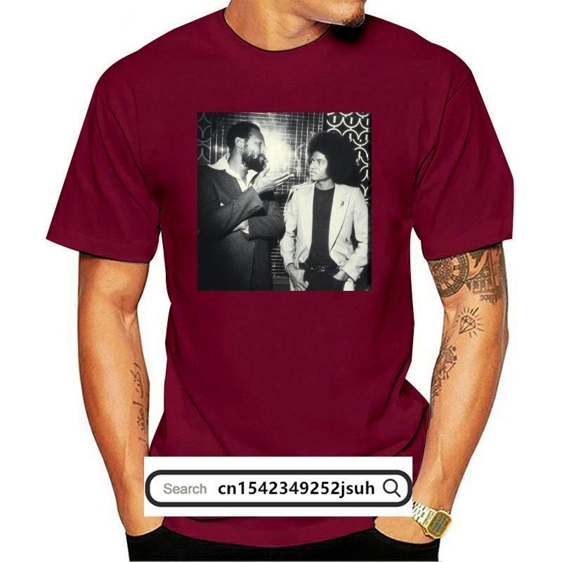 Мужские футболки Майкл Джексон Т Камиза; Com Marvin Gaye CamiSeta