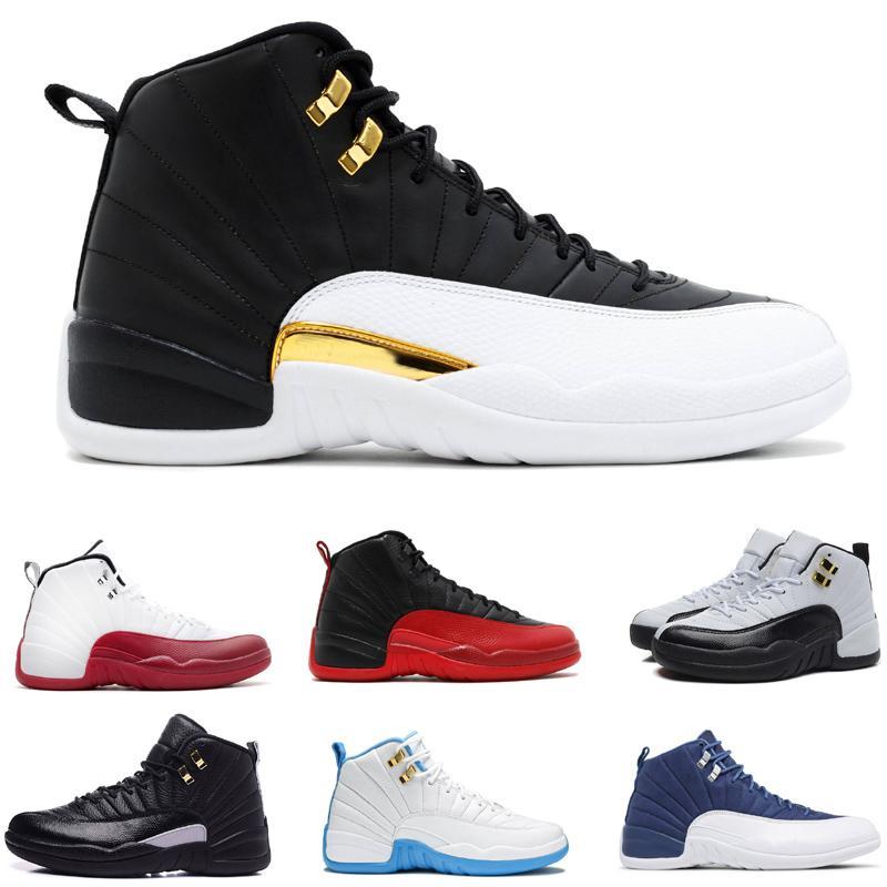 12 Beyaz Siyah Altın sunrise Mavi Süet Erkek Basketbol Ayakkabı Için XII Orta Atletik Spor Sneakers