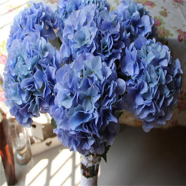 Silk hydrangea flower ball decorateive flower real touch artificial flowers good quality for wedding garden market decoration dsf0570