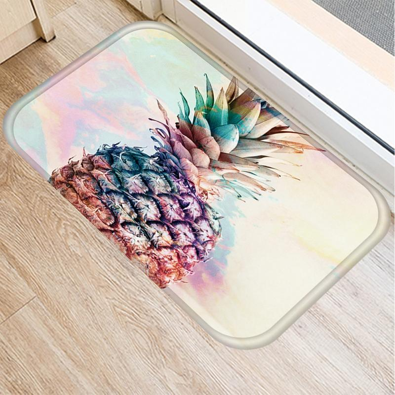 Ananas Desen Mutfak Mat Kaymaz Kilim Oturma Odası Balkon Banyo Baskılı Halı Paspas Koridor Banyosu 40 * 60 cm 48031 Halılar