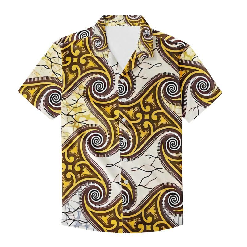 Summer Oversize Camicette per camicette per maschili Hawaiian Tropical Flowers Design 2021 Aloha Shirt Casual Daily Daily Camisa T-shirt da uomo