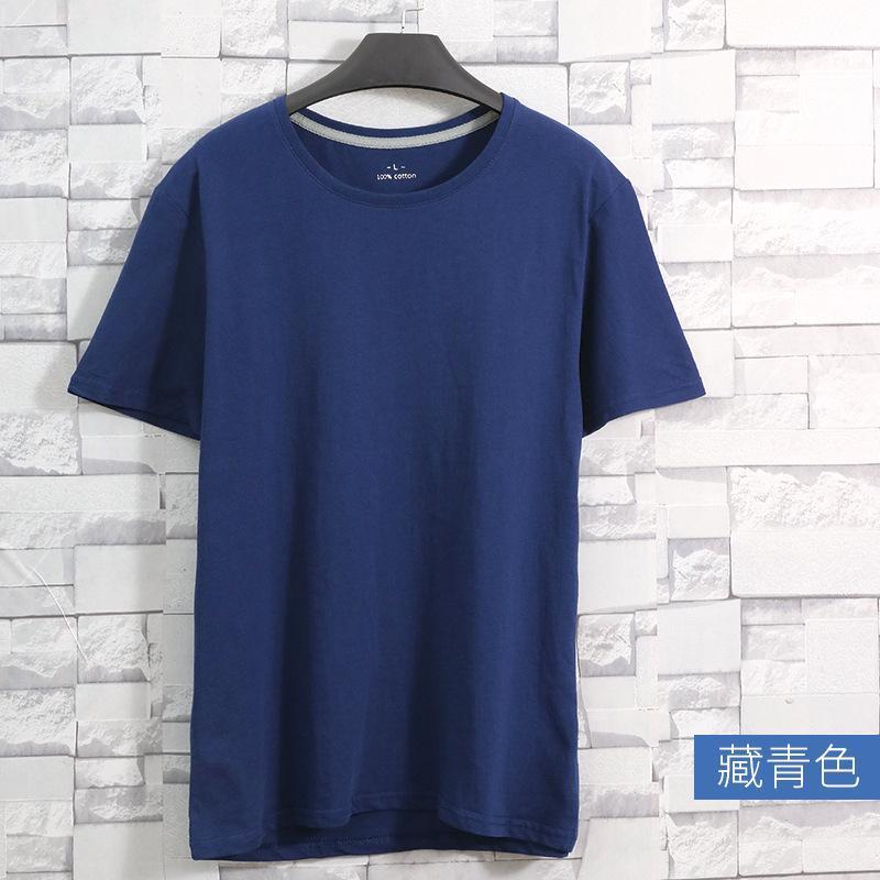 Мужские футболки 2021 повседневный сплошной цвет футболки сверху, простые с короткими рукавами вокруг шеи на улице XHB7991
