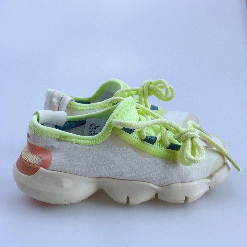 2021 Çocuklar 5 Koşu Ayakkabıları Spor Yeşil Moda Beyaz Siyah Freekern Runner Ayakkabı Erkek Kız Sneakers Çocuk Açık Okulu Eğitmenler Stil Boyutu 28-35