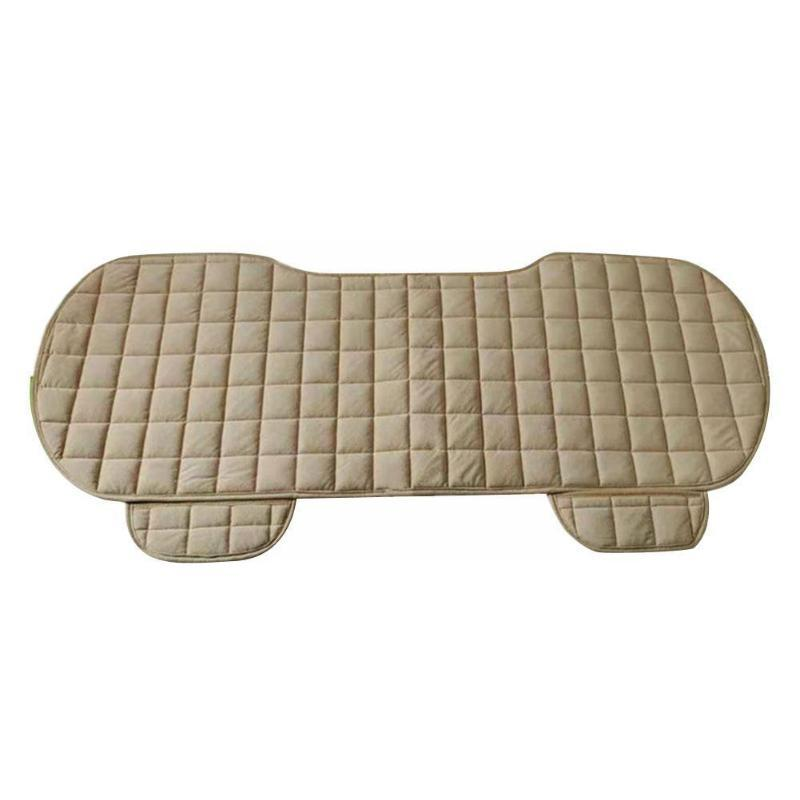 Car Seat Covers Checkered Rear Cushion, Winter Protection Universal Cloth And Front Cushion Cover Warmth, Flock W9O5