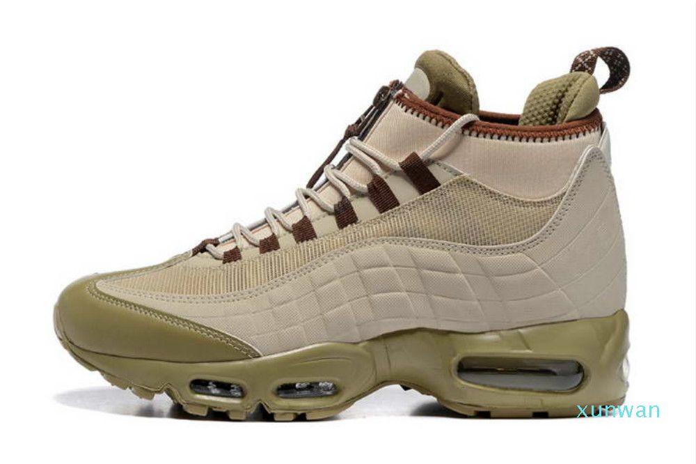패션 쿠션 부츠 블랙 그린 브라운 남자 95 Hight 톱 95S 방수 남자 신발 높은 품질