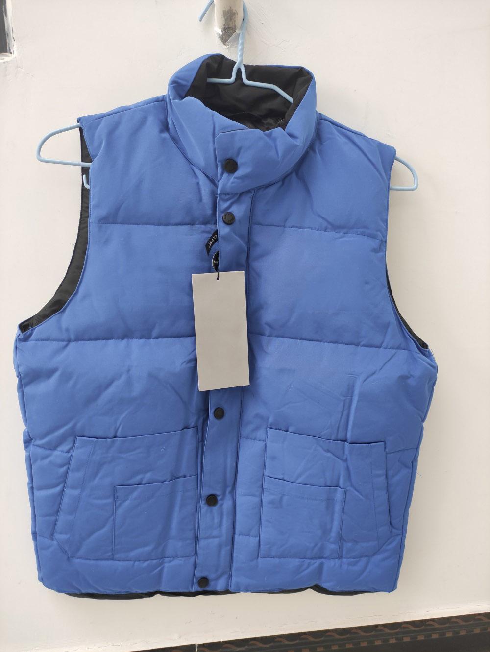 Marca de transporte rápido jaqueta de inverno homens freestyle ganso para baixo colete para baixo colete para baixo jaqueta 6 cor