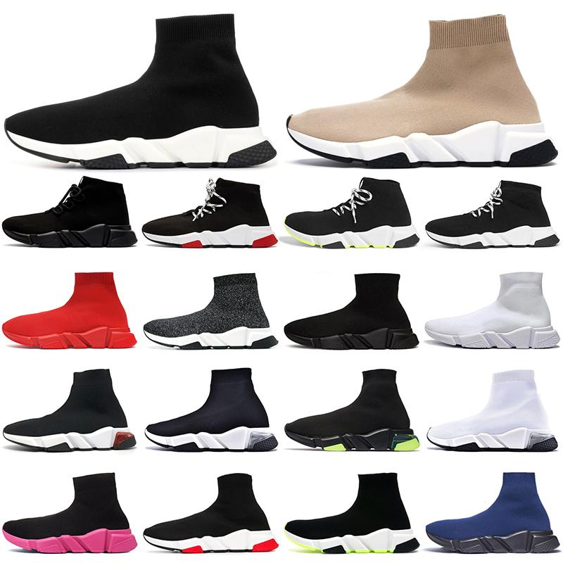 sock shoes جورب الاحذية في الهواء الطلق الرجال تشغيل الأحذية الكتابة على الجدران ثلاثية أسود أبيض رجل إمرأة منصة المدربين عارضة