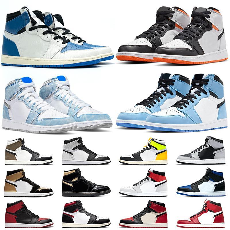 air jordan 1 농구 신발 Jumpman 1 로얄 발가락 파인 녹색 법원 퍼플 흑요석 (11) 11S 사육 콩코드 모자와 가운 남성 여성 스포츠 스니커즈
