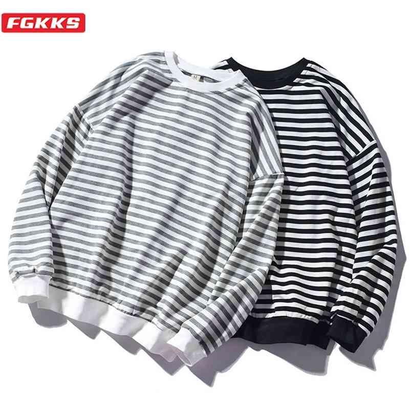 FGKKS Trend Marque Hommes Sweat-shirt Sweatshirt Hommes Mode Homme Sauvage Sweats à capuche à capuche O-Cou Cou Cason Sweatshirts 210728