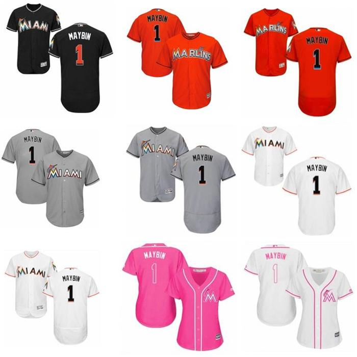 men women youth Cameron 1 Maybin baseball jerseys MiamiMarlin Replica Blue Alternate Cool Base Baseball Wear
