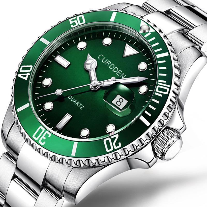Bracelets 2021 Top Brand Curdde Luxury Hommes Montre Imperméable Mode Militaby Inox Date Montres Sport Montres Quartz Poignet