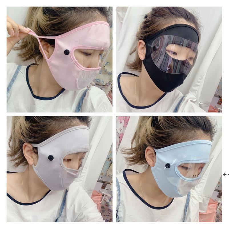 Più nuovo Ghiaccio Silk Sunscreen Cycling Mask Protezione UV Protezioni regolabili per lenti solari 2 stili 4 colori FWF10208
