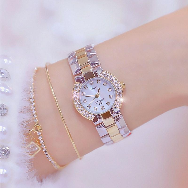 Mulheres assistir top 2021 Bayan Kol Saati vestido de prata ouro pulso de quartzo diamante senhoras relógios femininos relógios relógios de pulso