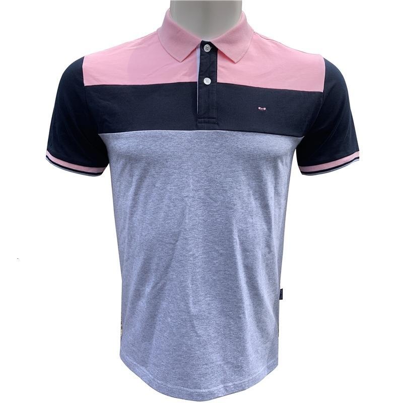 Polo Summer Park Hommes Tops Patchwork Shirt Français Tradeamark Eden Designer Short Mouwen Shirts 3XL