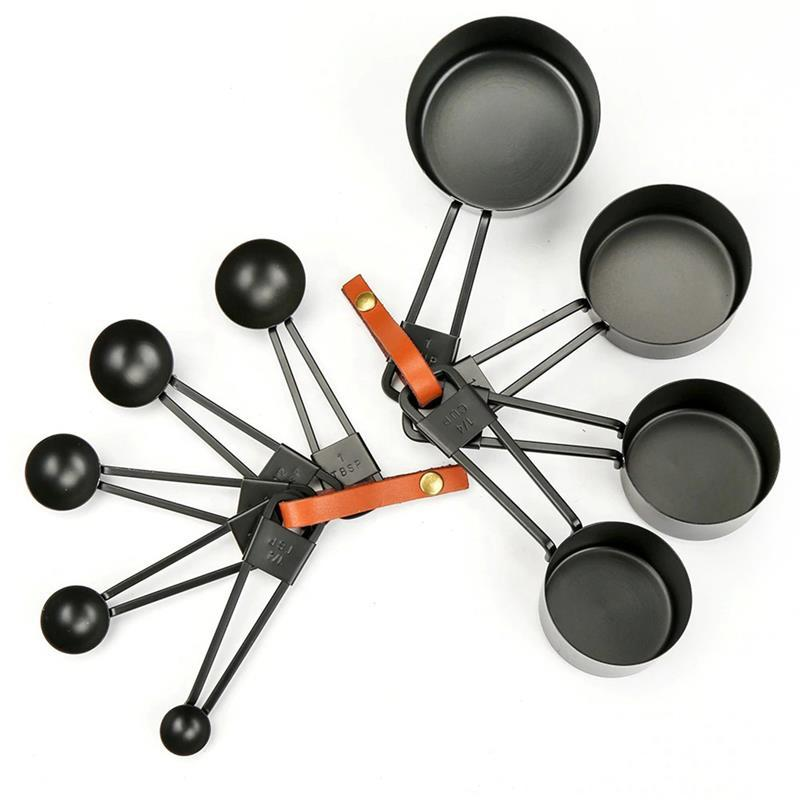 4Pcs/Set Multifunctional Stainless Steel Measuring Spoon Non-Stick Paint Scale Measuring Cup Kitchen Baking Tools