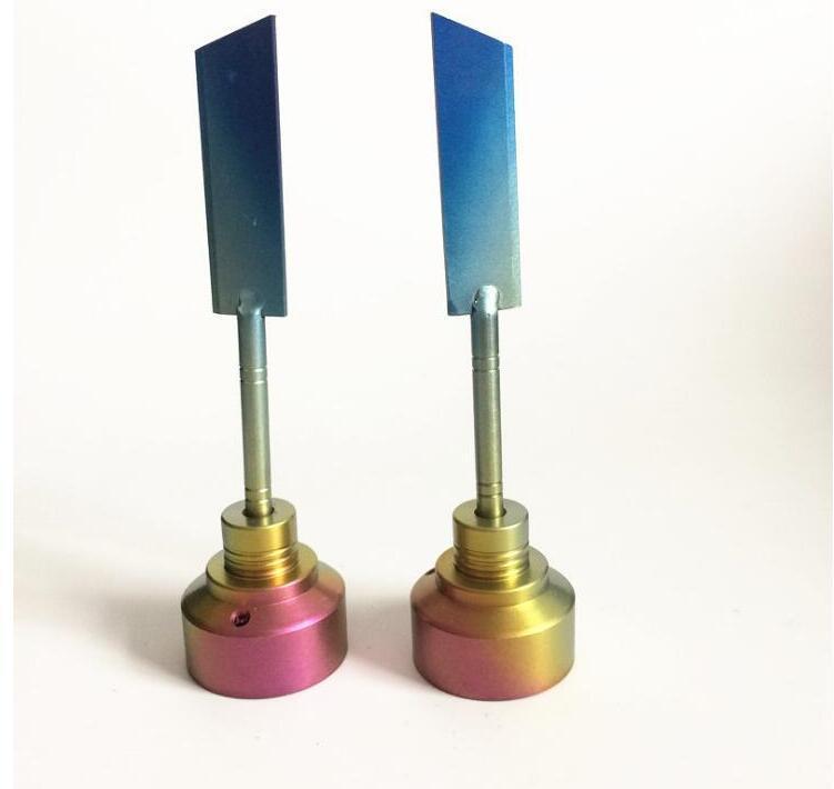 Цветные радужные титановые CARB CAP GR2 Nails Nower Недосуточная аксессуары для курения инструмент изогнутый нож меч для стеклянных водных бонговых кальянов