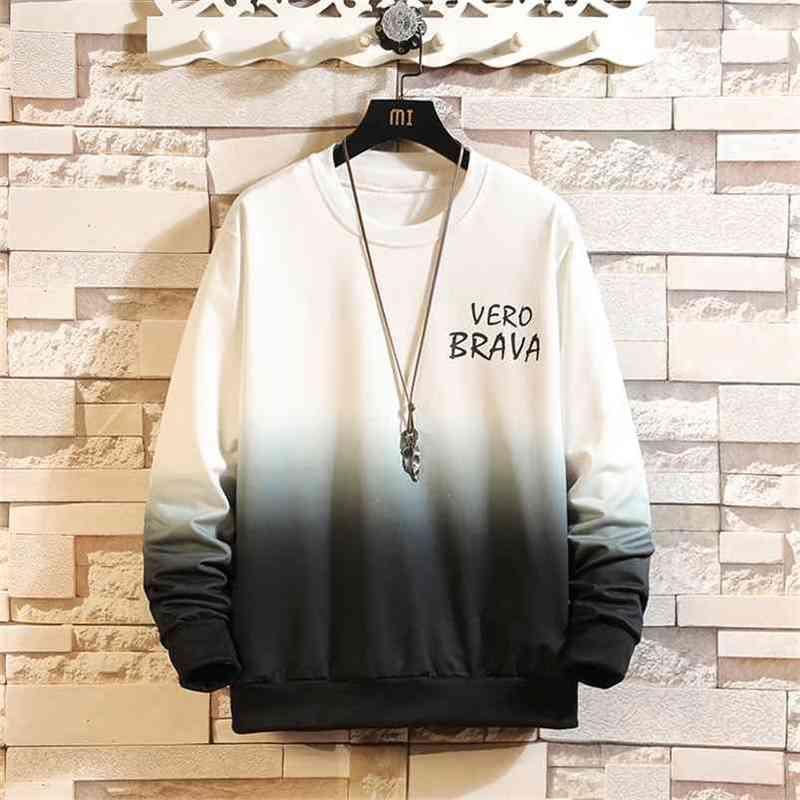 Automne Spring Sweatshirt Sweat-shirt Blanc HIP HOP HOP PUNK PUNTWOOVER Streetwear Casual Vêtements de mode Plus Oversize 5XL 210728