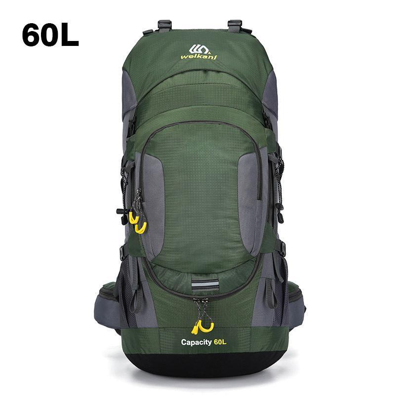 Weikani 60L İç Çerçeve Yürüyüş Sırt Çantası Erkekler Kadınlar Yağmur Kapak Ile Büyük Geri Çanta Seyahat Avcılık Kamp Tırmanma Dağ Açık Çantası
