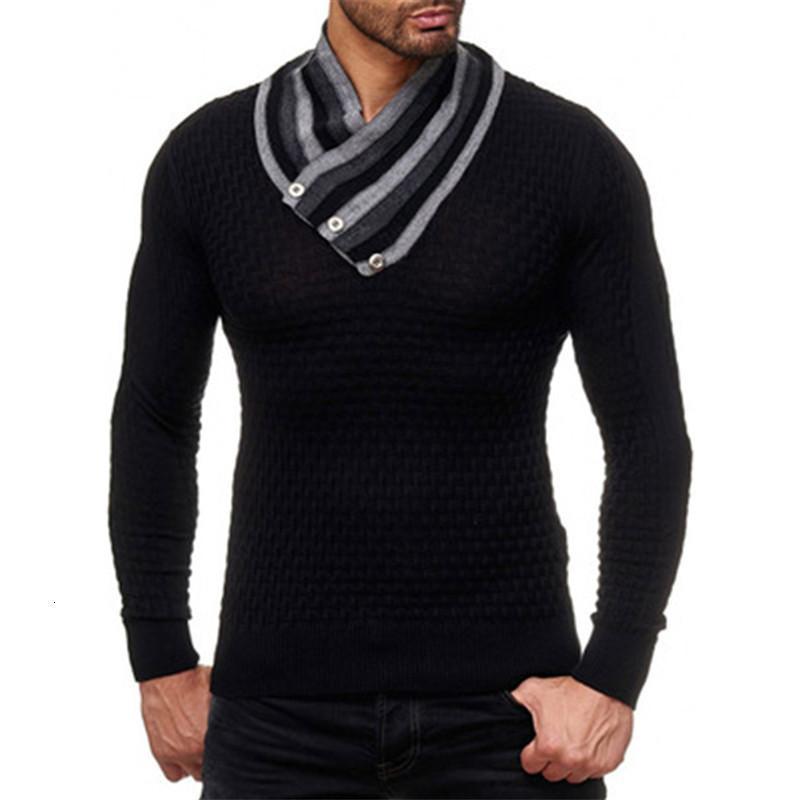 Mann Diamant Stricking Pullover Mode Trend Langarm High Neck Pullover Pullover Designer Männlich Herbst Neue Casual Slim Bottoming Tops