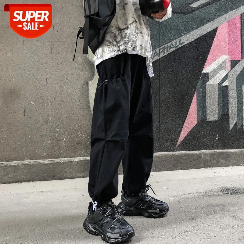 Erkek Eğlence Düz Pantolon Rahat Gevşek Pantolon Aktif Elastik Hip Hop Moda Eğilim Erkek Joggers Sweatpants Boyutu S-2XL # RI4T