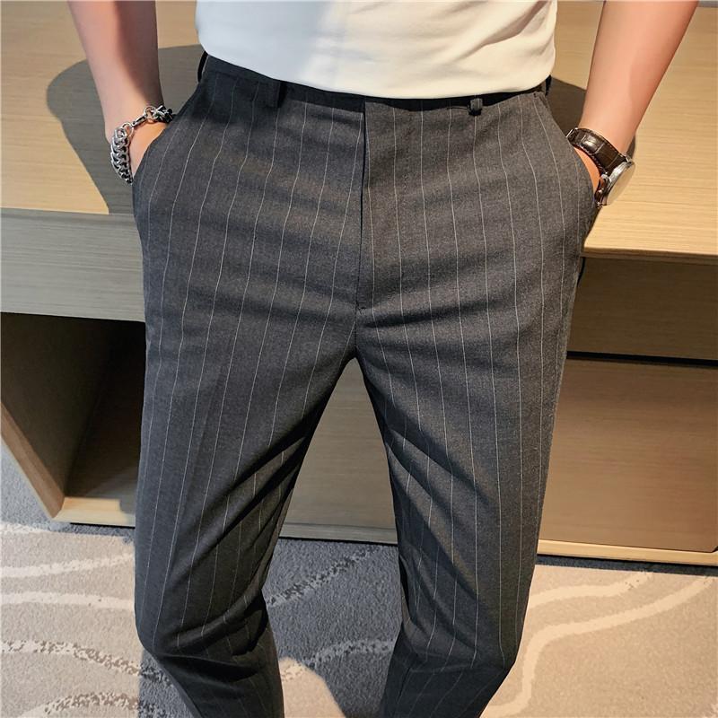 Summer Business Dress Pantalons Hommes Casual Slim Office Social Costume Social Longueur Durée De Mariage Streetwear Pantalons Hommes Cuissards Blazers