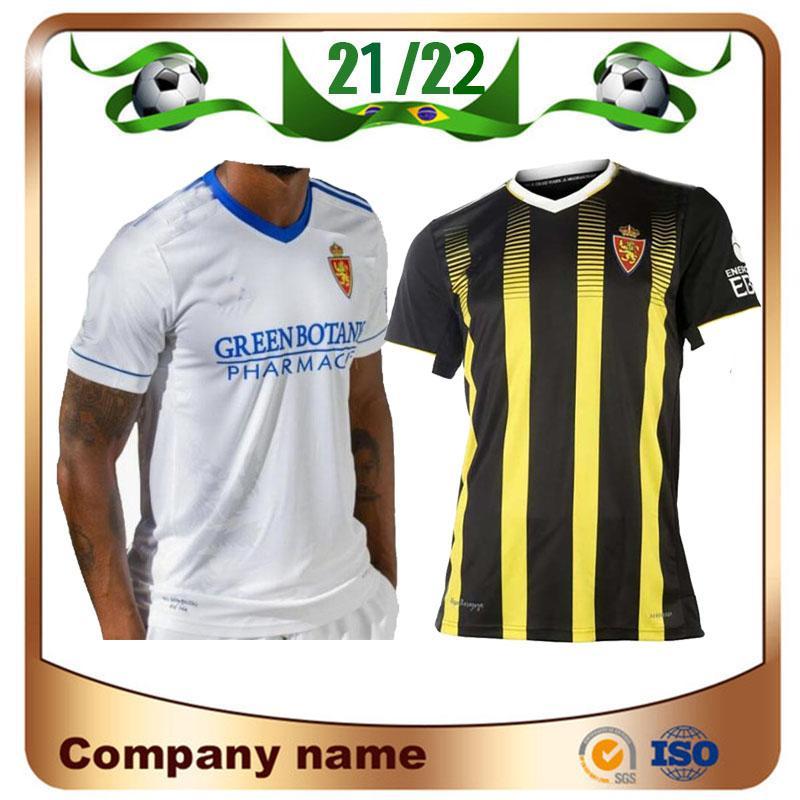 2021 Real Zaragosse # 23 Shinji Kagawa Soccer Jerseys 21/22 Home # 21 Zapater Maillots de pied de pied Javi Ros Pombo Miguel Alejandro Red Football Uniforme