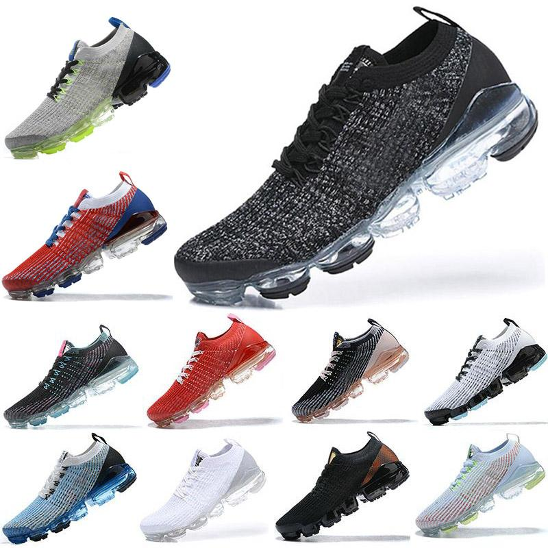 2018 2019 TOP Quality Knit 3.0 Chaussures de course Triple Black Mens Baskets Fly Blanc Femmes Formatrices Coussins Chaussures Zapatos
