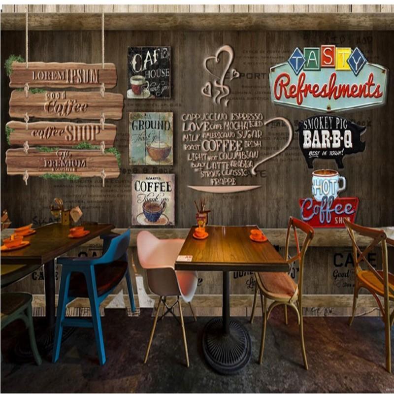 Fonds d'écran Drop Po Fond d'écran Custom Cafe Bar de l'Ouest Restaurant de l'Ouest Café Dessert Shop Mural