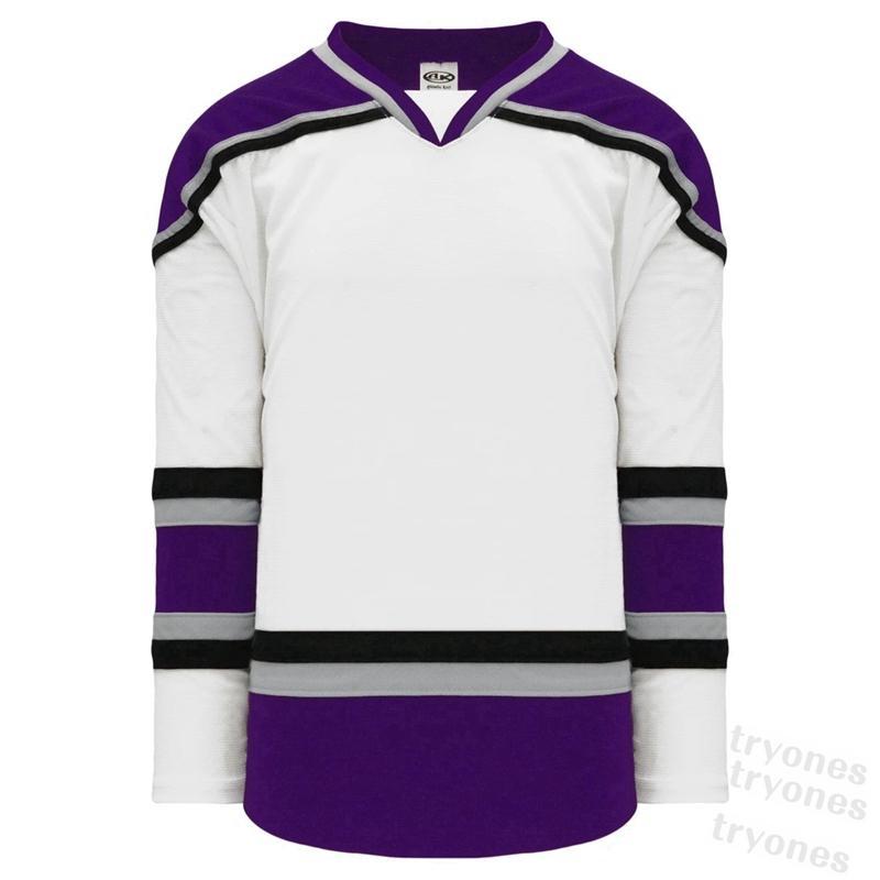 Personalizza 2021 Personalizzato Mens Black Hockey Jersey Donne Bambini Viola Verde Blu Rosso Qualsiasi Numero Numero Numero Shirt S-XXX B12