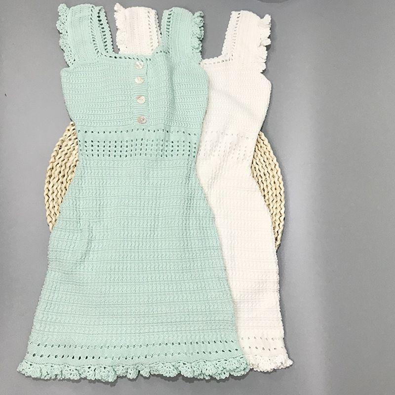 310 2021 Summer Brand Same Style Abito Senza Maniche Spaghetti Strap Bianco Blu Swomens Vestiti Flora Stampa Abito di moda di lusso Xue