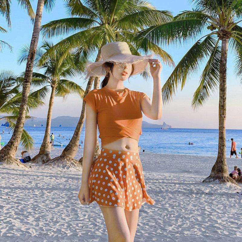 Bikinihot Primavera Style Style Body Body Covering Show Show Sottile Studente Sexy Bikini Studente Costume da bagno Coreano Girls
