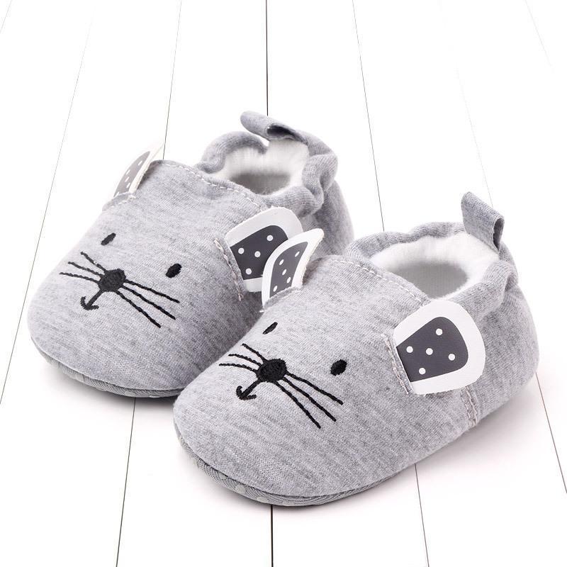 الرضع طفل الفتيان الفتيات النعال، لينة وحيد غير انزلاقية سرير أحذية منزل لطيف الحيوان الشتاء الدافئ الجوارب الأولى المشاة