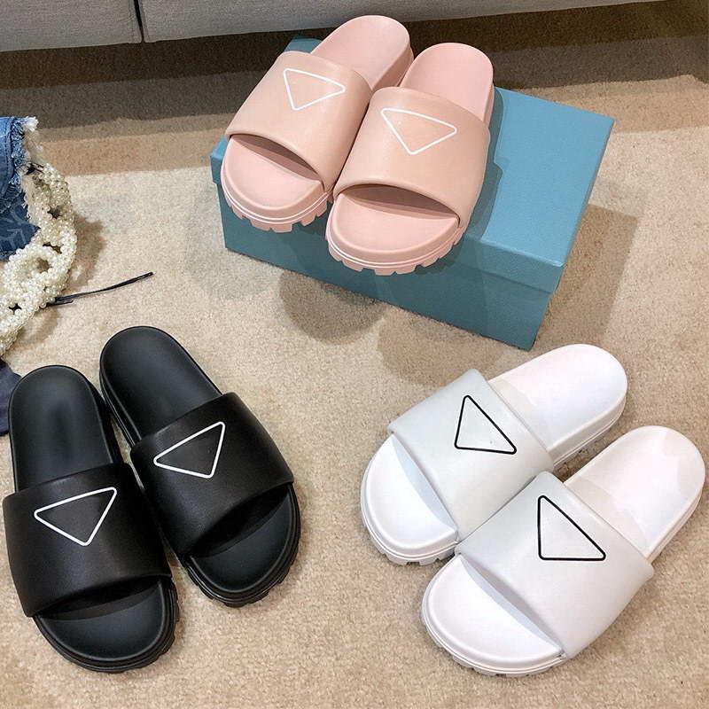 Frauen Sommer Mode 2021 Sandalen Schuhe Schwarz Weiß Rosa Slipper Desert Spike Sohle Platform Sandale Frau Designer Hausschuhe Größe 35-40