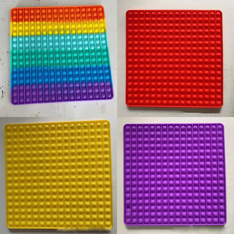 30 cm Conjuntos de regalo súper grande de tamaño grande Empuje Bubble Fidget Toys Autism Need Needs Squishy Stress Reliever Rainbow Adult Party Diverty Anti-Stress Party Regalo 603 B3